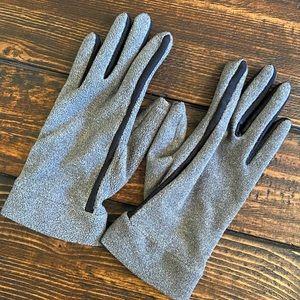 Soft Gray Fleece Gloves